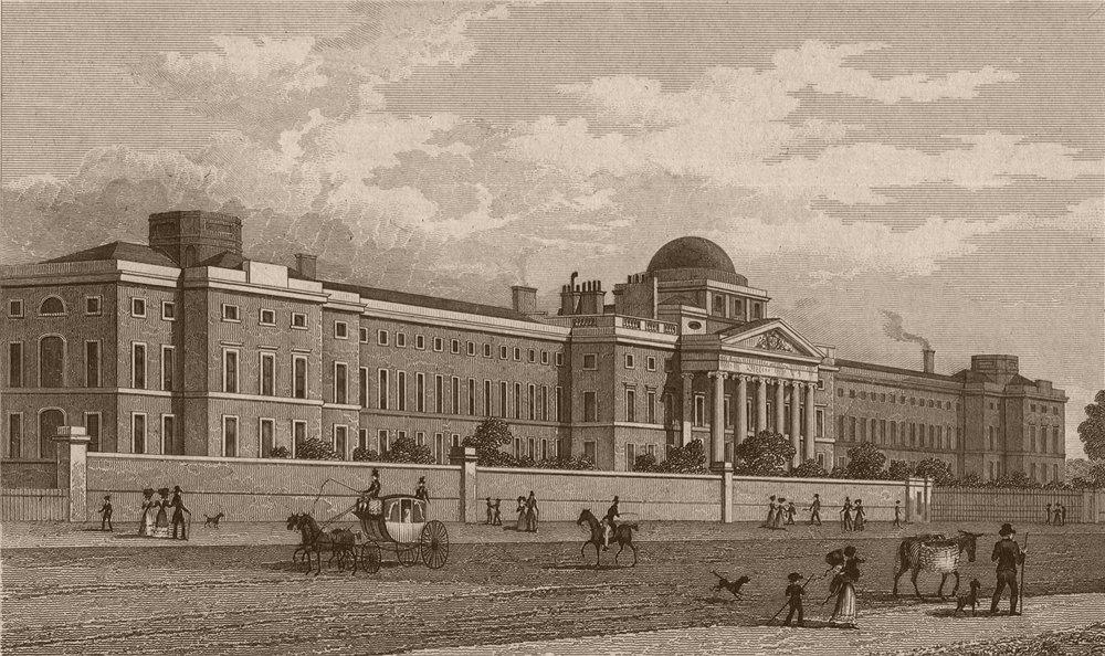 Associate Product SOUTHWARK. New Bethlem Hospital, St. George's Fields. London. SHEPHERD 1828