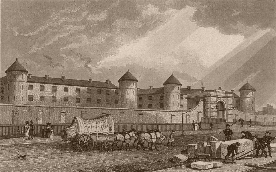 Associate Product WESTMINSTER. Penitentiary, Millbank. London. SHEPHERD 1828 old antique print