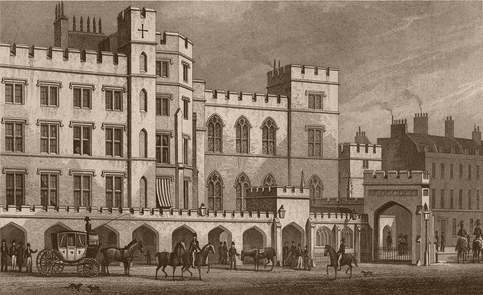 Associate Product HOUSE OF LORDS. The King's Entrance from Poets' Corner (Soane). SHEPHERD 1828