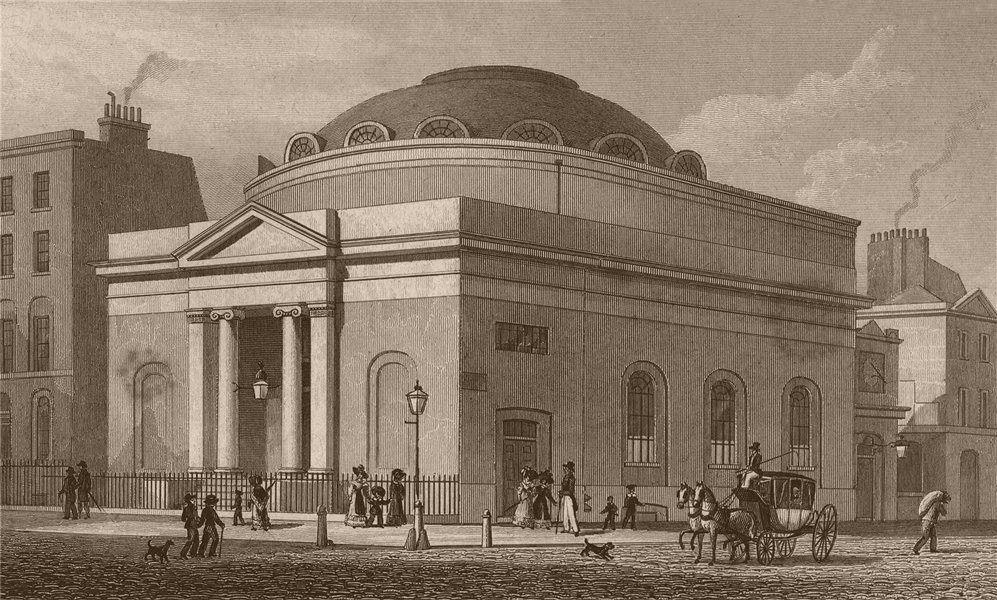 Associate Product MOORGATE. Albion Chapel, London Wall (demolished c1875). London. SHEPHERD 1828