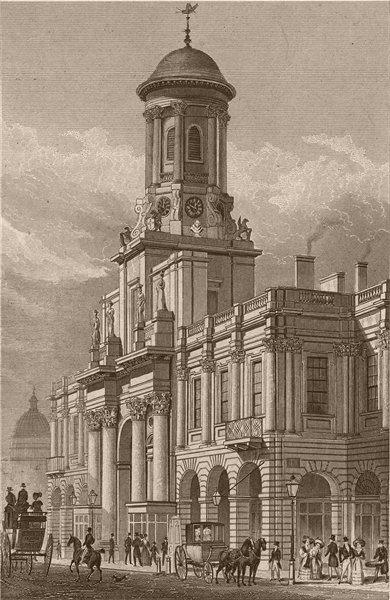 Associate Product CORNHILL. Royal Exchange. London. SHEPHERD 1828 old antique print picture