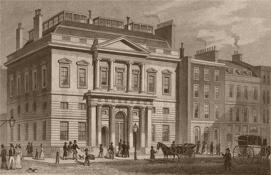 Associate Product ST. BARTHOLOMEW'S LANE. Auction mart. London. SHEPHERD 1828 old antique print