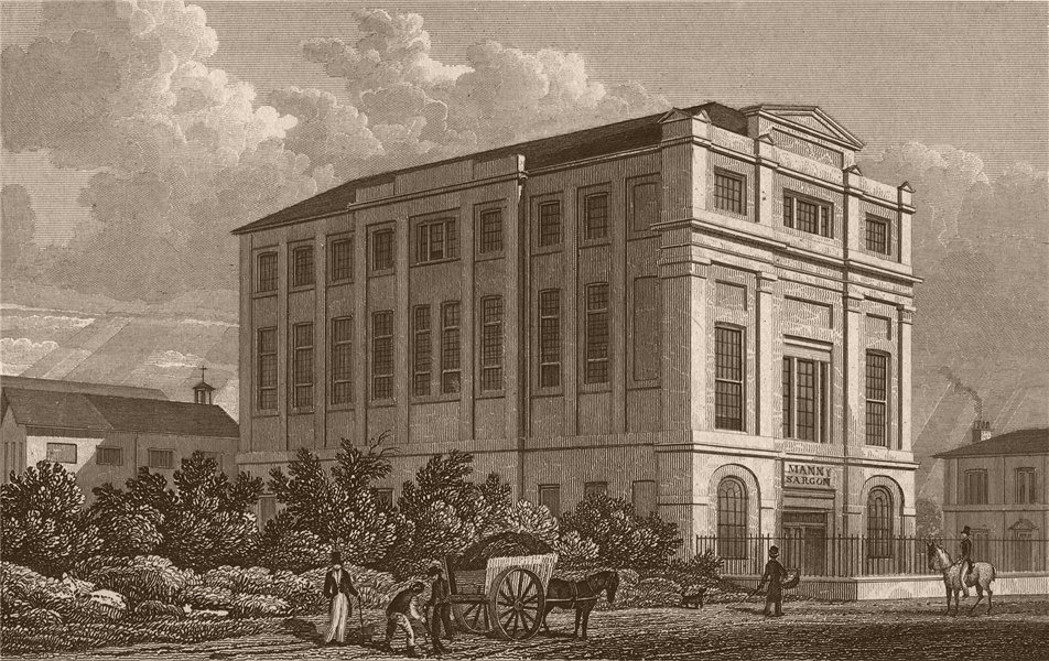 CAMDEN ROAD. Buildings, Highfield. London. SHEPHERD 1828 old antique print