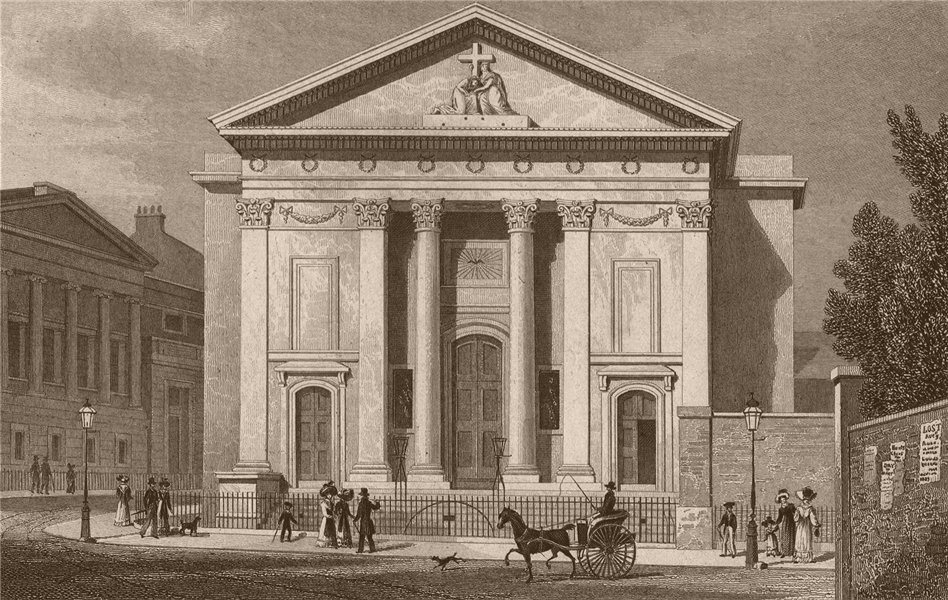 Associate Product FINSBURY CIRCUS. St Mary Moorfields (now Moorgate station). SHEPHERD 1828