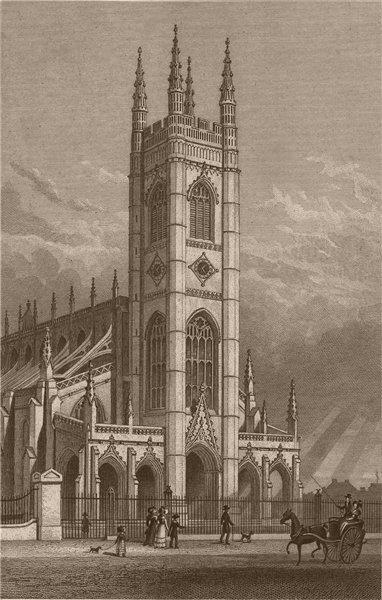Associate Product CHELSEA. St. Lukes Church. London. SHEPHERD 1828 old antique print picture