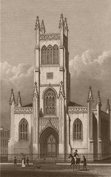 Associate Product PENTONVILLE. St. Mark the Evangelist. London. SHEPHERD 1828 old antique print