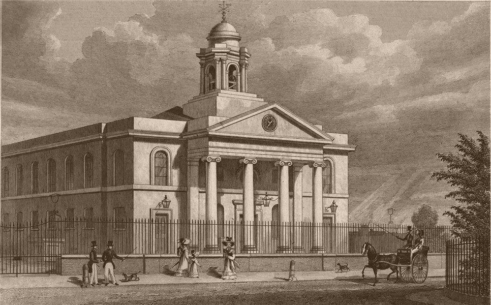 Associate Product St. Marylebone Chapel; now ST. JOHN'S WOOD Church (Hardwicke). SHEPHERD 1828