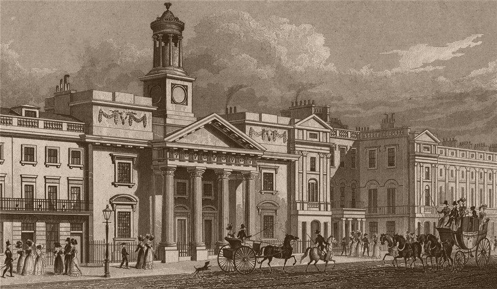 Associate Product REGENT STREET. St. Philip's chapel (G. Repton, demolished c1875). SHEPHERD 1828