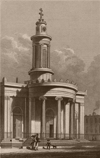 Associate Product CAMDEN TOWN. All Saints church (now Greek Orthodox). London. SHEPHERD 1828
