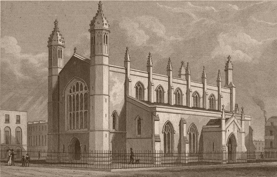 Associate Product ISLINGTON. Holy Trinity Church, Cloudesley Square. SHEPHERD 1828 old print