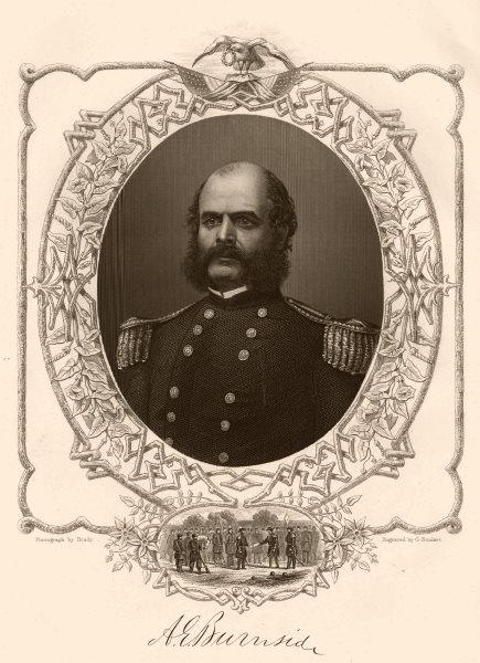 Associate Product AMERICAN CIVIL WAR. Portrait of General Burnside 1864 old antique print