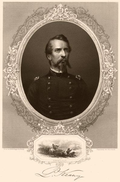 Associate Product AMERICAN CIVIL WAR. General Kearney. Inset. Battle of Chantilly/Ox Hill, VA 1864