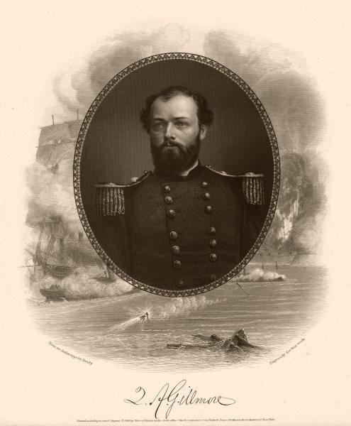 Associate Product AMERICAN CIVIL WAR. Portrait of General Gillmore 1864 old antique print