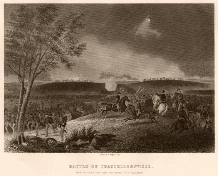 Associate Product AMERICAN CIVIL WAR. Battle of Chancellorsville. Sickles. Retreat. Virginia 1864