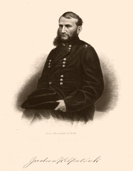 Associate Product AMERICAN CIVIL WAR. Portrait of General Kilpatrick 1864 old antique print