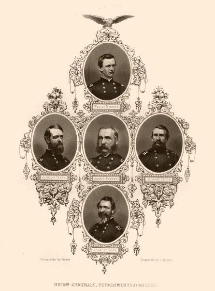 Associate Product AMERICAN CIVIL WAR. Union Generals Sedgwick Terry Foster Crook Merritt 1864