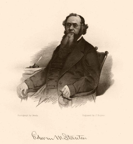Associate Product AMERICAN CIVIL WAR. Portrait of Edwin M. Stanton 1864 old antique print