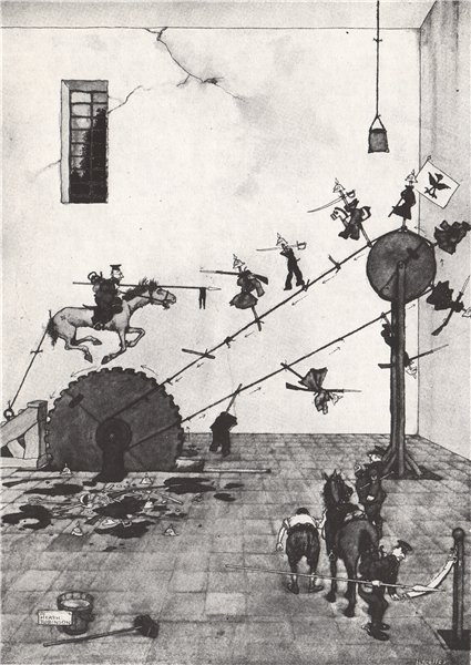 Associate Product HEATH ROBINSON. The Lancing wheel. First World War 1973 old vintage print
