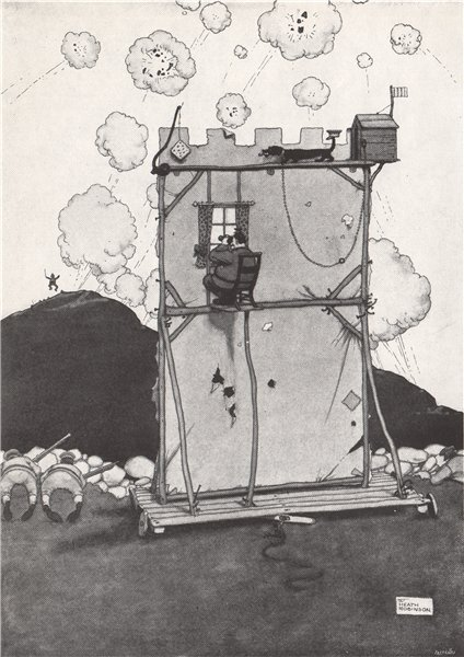 Associate Product HEATH ROBINSON. A Trained Dog of War . First World War 1973 old vintage print