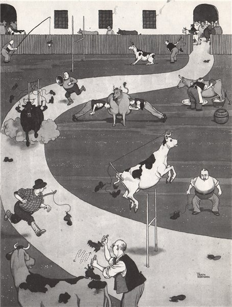 HEATH ROBINSON. Cultivating Toughness in Footballs. Soccer 1973 old print