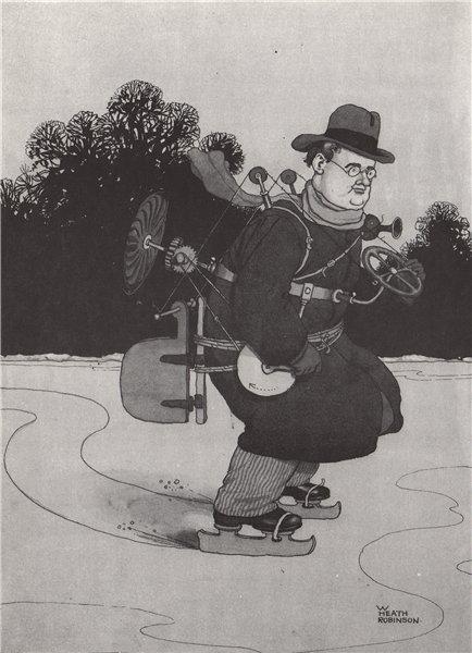 Associate Product HEATH ROBINSON. Self-Propelled skating gadget. Ice skating 1973 old print