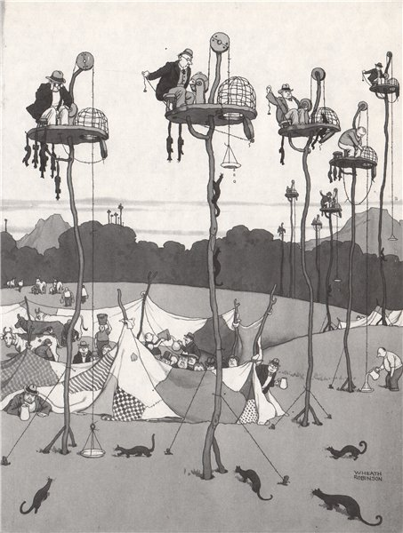Associate Product HEATH ROBINSON. Trapping the Polecat 1973 old vintage print picture