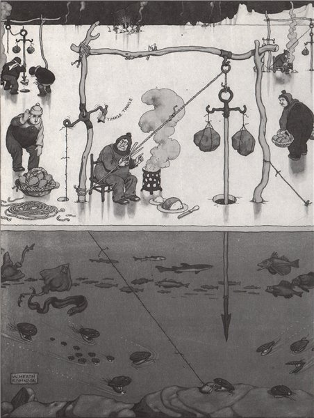 Associate Product HEATH ROBINSON. Clam Spearing. Fishing 1973 old vintage print picture