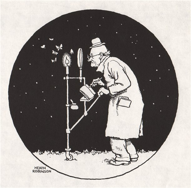 Associate Product HEATH ROBINSON. The habits of the night moth 1973 old vintage print picture
