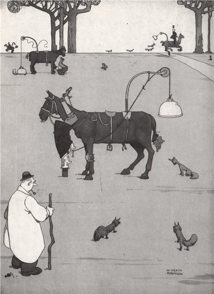 Associate Product HEATH ROBINSON. Catching Foxes 1973 old vintage print picture