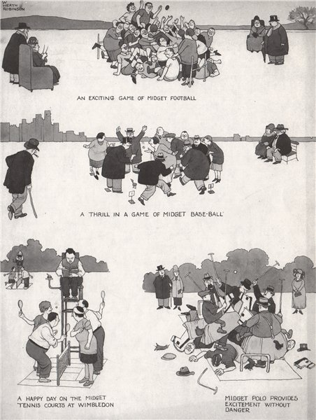 Associate Product HEATH ROBINSON. Midget Games 1973 old vintage print picture