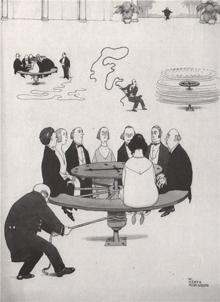 Associate Product HEATH ROBINSON. The new gambling dance 1973 old vintage print picture