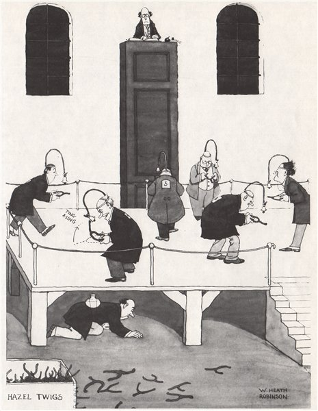 Associate Product HEATH ROBINSON. Candidates for water divining 1973 old vintage print picture