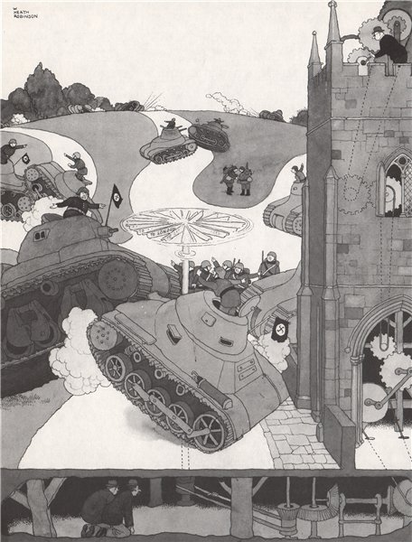 Associate Product HEATH ROBINSON. Confusing the enemy's sense of direction . Second World War 1973