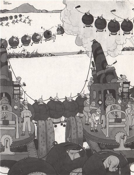 Associate Product HEATH ROBINSON. The Jerry Scarer. Second World War 1973 old vintage print