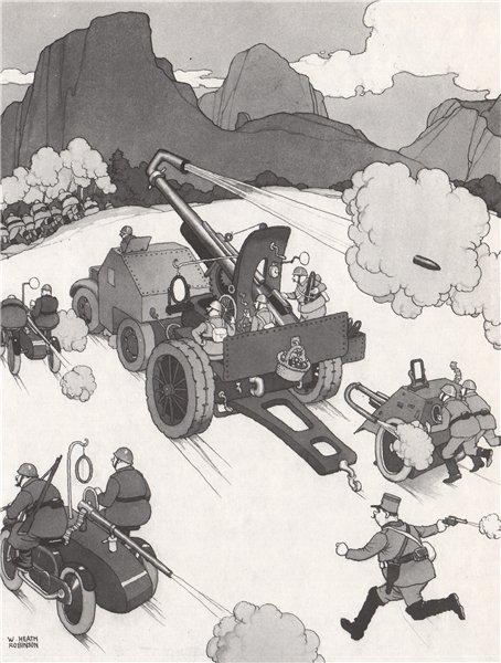 Associate Product HEATH ROBINSON. Back Acting Guns. Second World War 1973 old vintage print