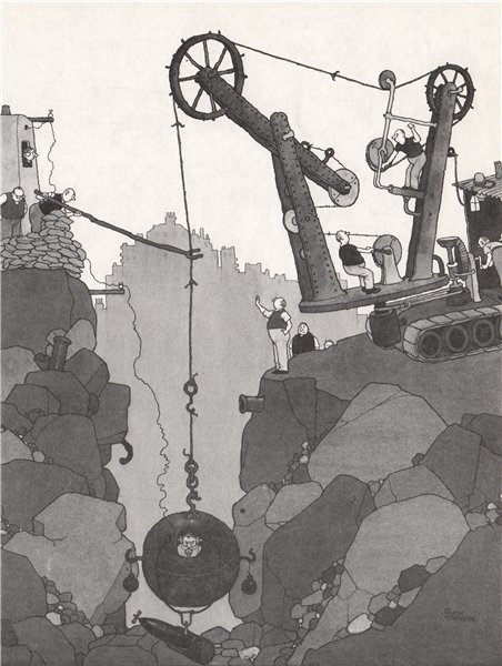 Associate Product HEATH ROBINSON. Delayed Action Bomb Machine . Second World War 1973 old print
