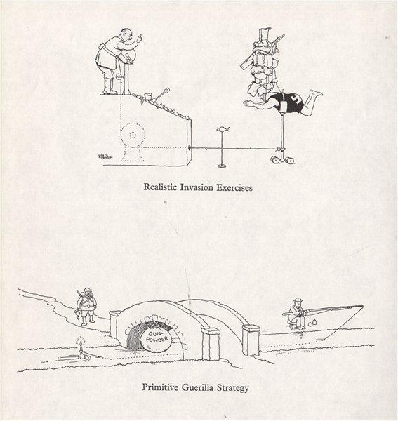 Associate Product HEATH ROBINSON. Invasion Exercises. Guerilla Strategy. Second World War 1973