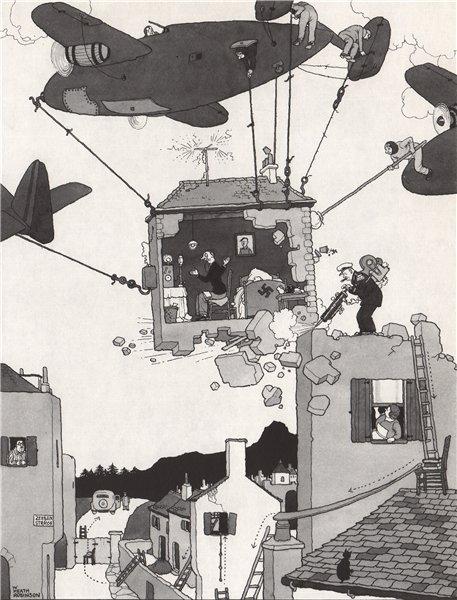 HEATH ROBINSON. Kidnapping Lord Haw-Haw. Second World War 1973 old print