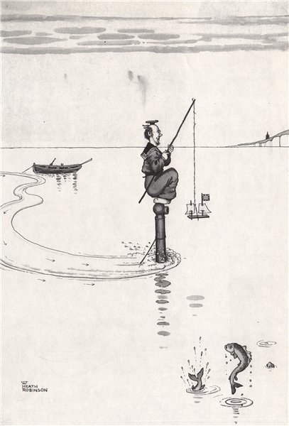 Associate Product HEATH ROBINSON. Luring a German Submarine to Dover. Second World War 1973
