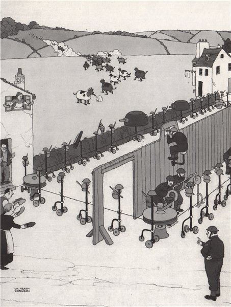 Associate Product HEATH ROBINSON. Camouflage V. Camouflage. Second World War 1973 old print