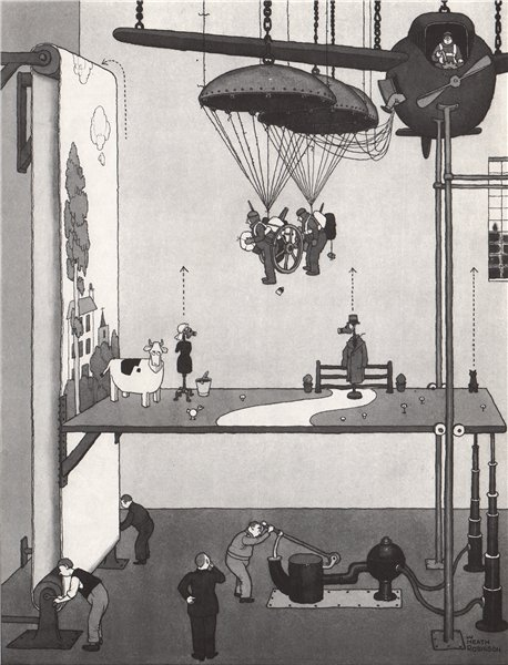 Associate Product HEATH ROBINSON. Safe practice for Paratroopers. Second World War 1973 print