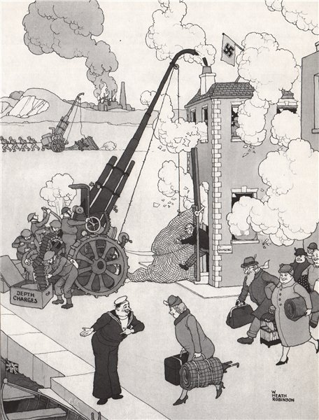Associate Product HEATH ROBINSON. Catching a Quisling. Second World War 1973 old vintage print