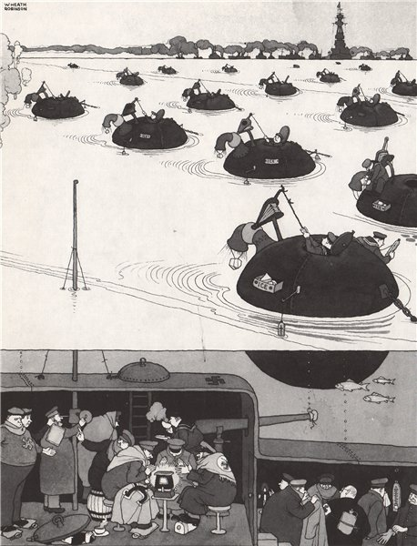 Associate Product HEATH ROBINSON. Cooling the Atlantic. Second World War 1973 old vintage print