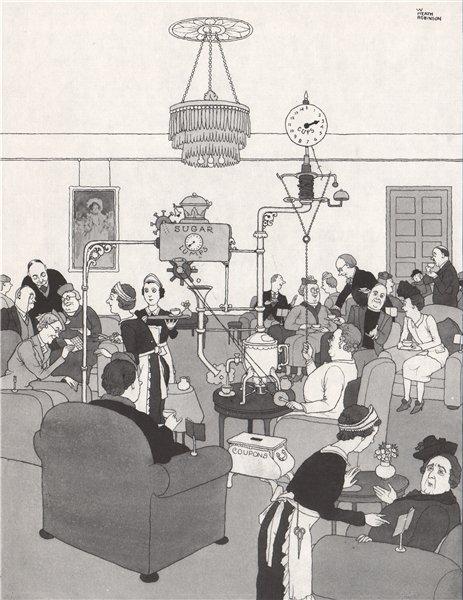 Associate Product HEATH ROBINSON. Tea and Sugar Rationing . Second World War 1973 old print