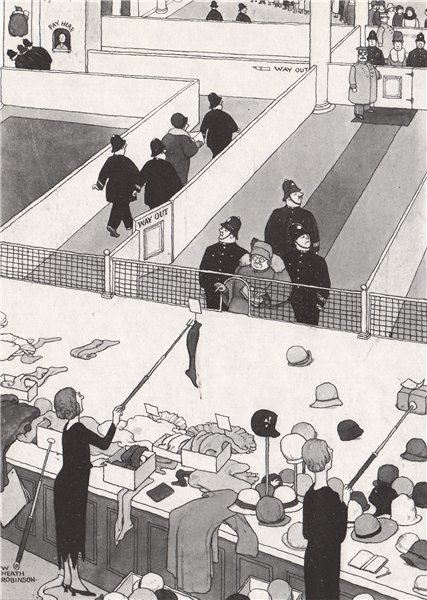 Associate Product HEATH ROBINSON. Orderly Conduct of Sales. Domestic 1973 old vintage print