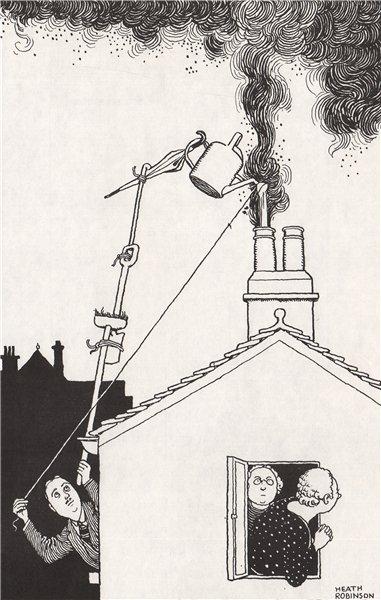 HEATH ROBINSON. Kitchen Chimney. Domestic 1973 old vintage print picture