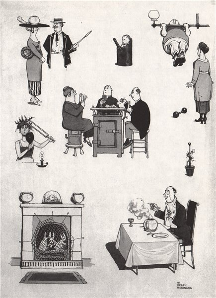 Associate Product HEATH ROBINSON. Disused lighting-heating-cooking. Domestic 1973 old print