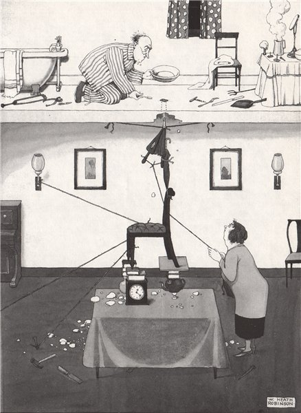 HEATH ROBINSON. How to pick up a safety razor blade. Domestic 1973 old print