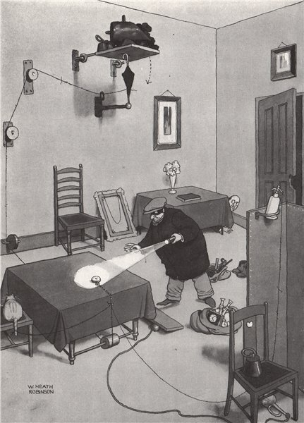 Associate Product HEATH ROBINSON. A surprise for the Cat Burglar. Domestic 1973 old print