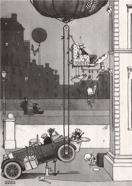 Associate Product HEATH ROBINSON. De luxe outfit for the Cat Burglar. Domestic 1973 old print